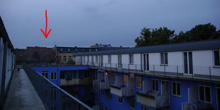 Das Dach der Olga von Melles Küche aus gesehen